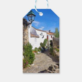 Watercolor Mediterranean village Gift Tags
