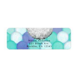 Watercolor Mermaid Scale Birthday Party Invitation Return Address Label