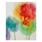 Watercolor modern abstract poster