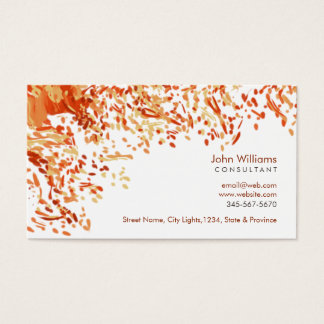 Watercolor Modern Nature Paints Brushstrokes Business Card