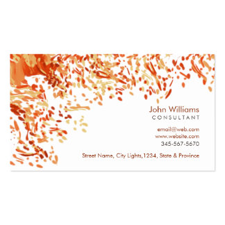 Watercolor Modern Nature Paints Brushstrokes Pack Of Standard Business Cards