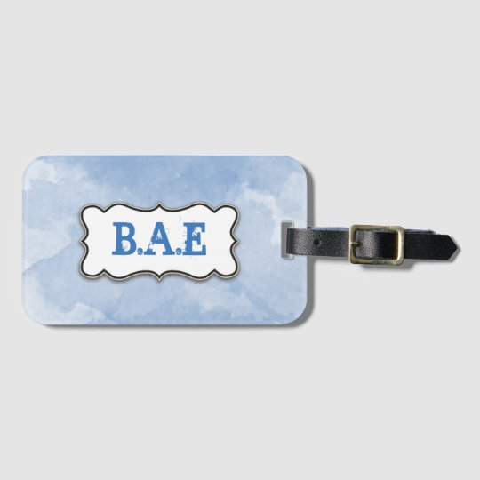 Watercolor Monogram Luggage Tag