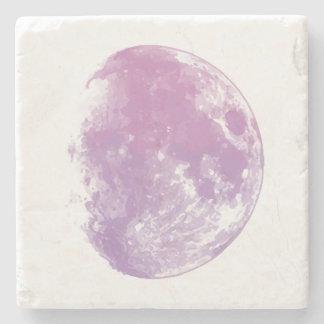Watercolor Moon Stone Coaster