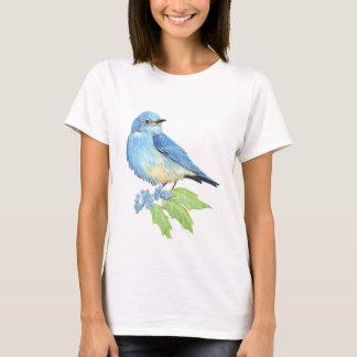 Watercolor Mountain Bluebird Blue Bird Art for the T-Shirt