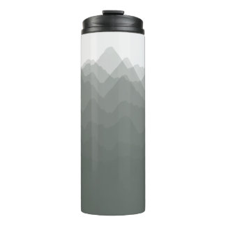 Watercolor Mountains Forest Thermal Tumbler