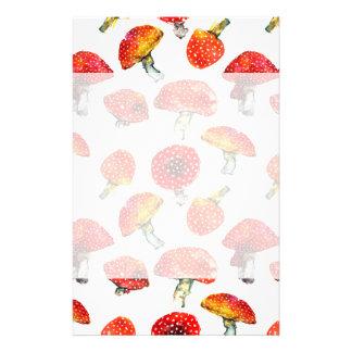 Watercolor mushrooms Cute fall pattern Stationery