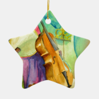 Watercolor Music Ceramic Star Decoration