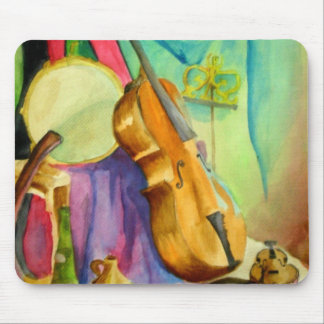 Watercolor Music Mouse Pad