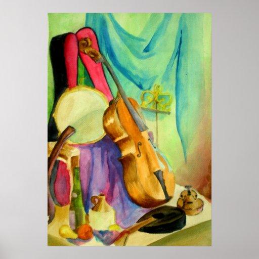Watercolor Music Poster
