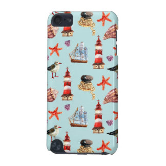 Watercolor Nautical Pattern iPod Touch 5G Cover