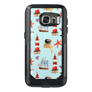 Watercolor Nautical Pattern OtterBox Samsung Galaxy S7 Case