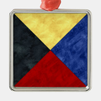 Watercolor Nautical Signal Maritime Flag Christmas Ornament