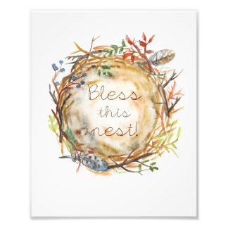 Watercolor Nest Photographic Print