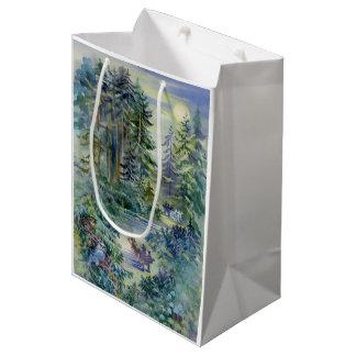 Watercolor Night Scene Medium Gift Bag