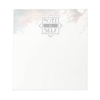 Watercolor Note to Self | Notepad