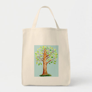 Watercolor Oak Tree Bag