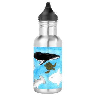 Watercolor Ocean Animals Water Bottle