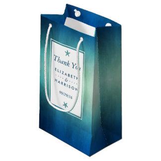 Watercolor Ocean Starfish Beach Wedding Favor Small Gift Bag