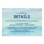 Watercolor Ocean Wedding Enclosure Card Custom Invitations