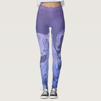 Watercolor Octopus Leggings