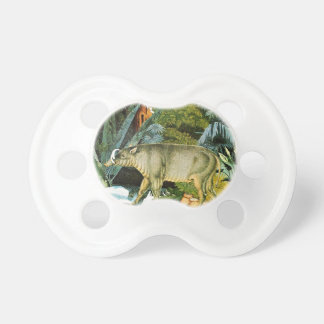 Watercolor of a Babirusa Wild Pig Pacifiers
