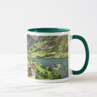 Watercolor of a Switzerland Landscape Mug