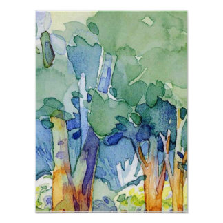 watercolor of landscape poster