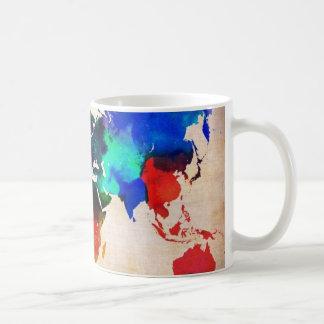 Watercolor old world map cute mugs