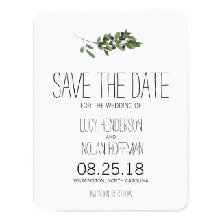 Watercolor Olive Orchard | Save the Date 11 Cm X 14 Cm Invitation Card