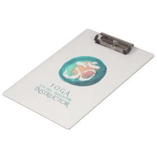 Watercolor Om Symbol Yoga Mediation instructor Clipboard