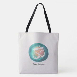 Watercolor Om Symbol Yoga Mediation instructor Tote Bag