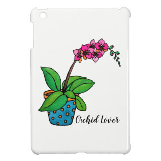 Watercolor Orchid Plant In Beautiful Pot iPad Mini Cover