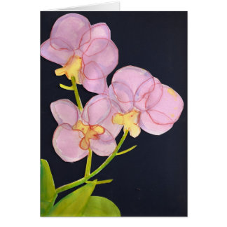 Watercolor Orchids Card