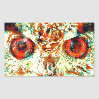 Watercolor Owl Rectangular Sticker