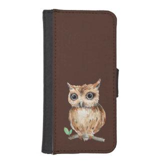 Watercolor Owl Wallet Case