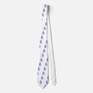 Watercolor oyster shell with pearl tie