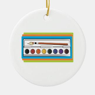 Watercolor Paint Ornaments