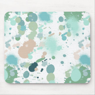 Watercolor Paint Splatters Mouse Mat