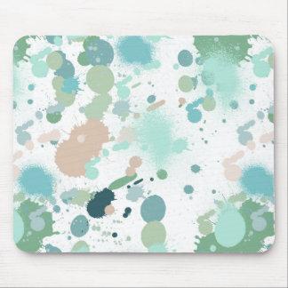 Watercolor Paint Splatters Mouse Pad