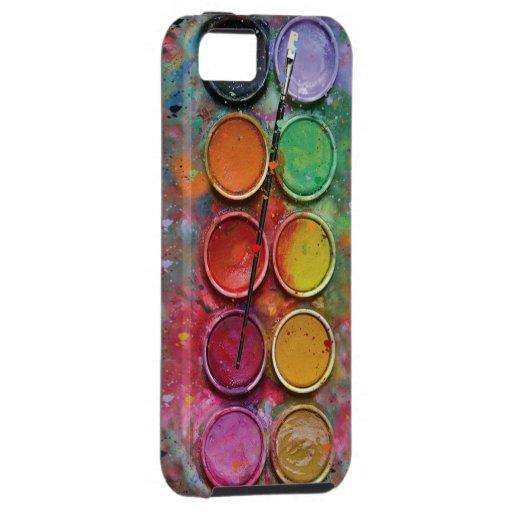 Watercolor Paintbox iPhone 5 Case