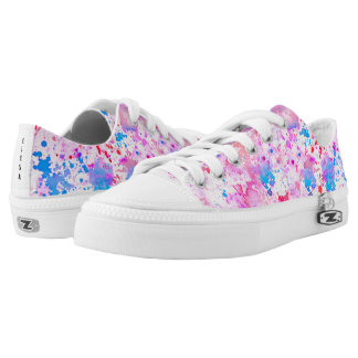Watercolor Painted Monogram Printed Shoes