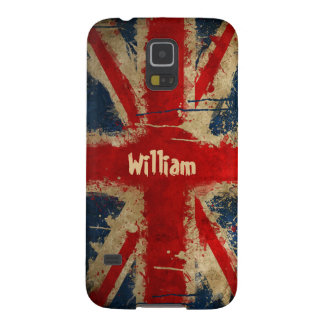 Watercolor Painted UK Flag Union Jack Pattern Galaxy S5 Cover