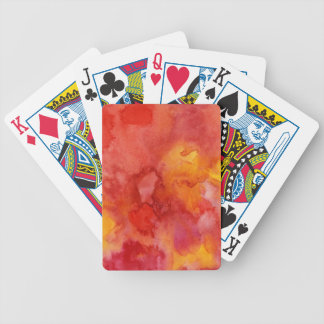 Watercolor painting background. bicycle playing cards