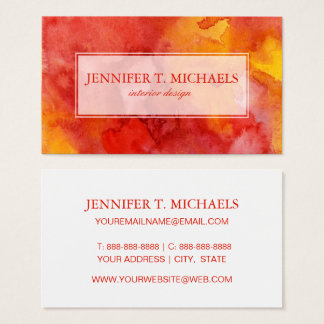 Watercolor painting background. business card
