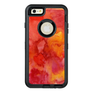 Watercolor painting background. OtterBox defender iPhone case