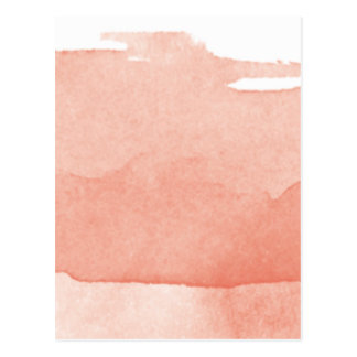 Watercolor Painting Coral Pink Ombre Modern Art Postcard
