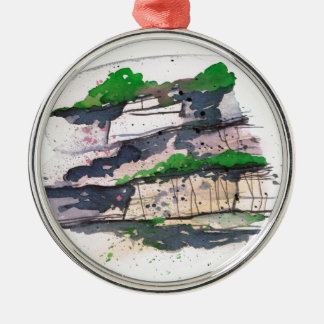 Watercolor Painting Christmas Ornament