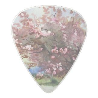 Watercolor Painting Landscape Acetal Guitar Pick