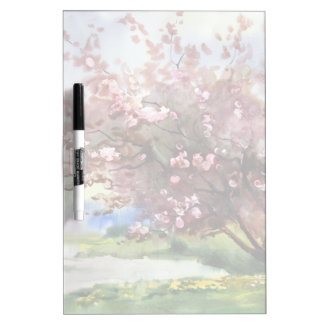 Watercolor Painting Landscape Dry Erase Board