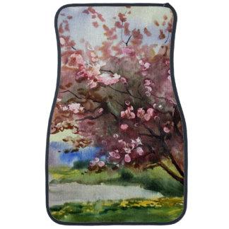 Watercolor Painting Landscape Floor Mat
